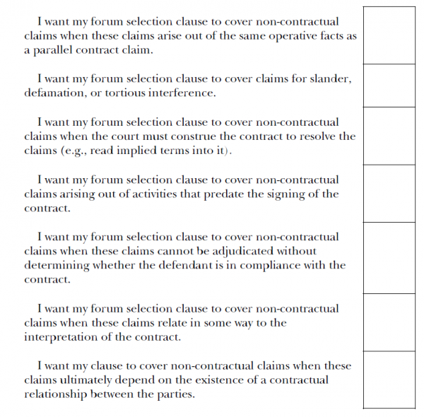 Interpreting Forum Selection Clauses Iowa Law Review The